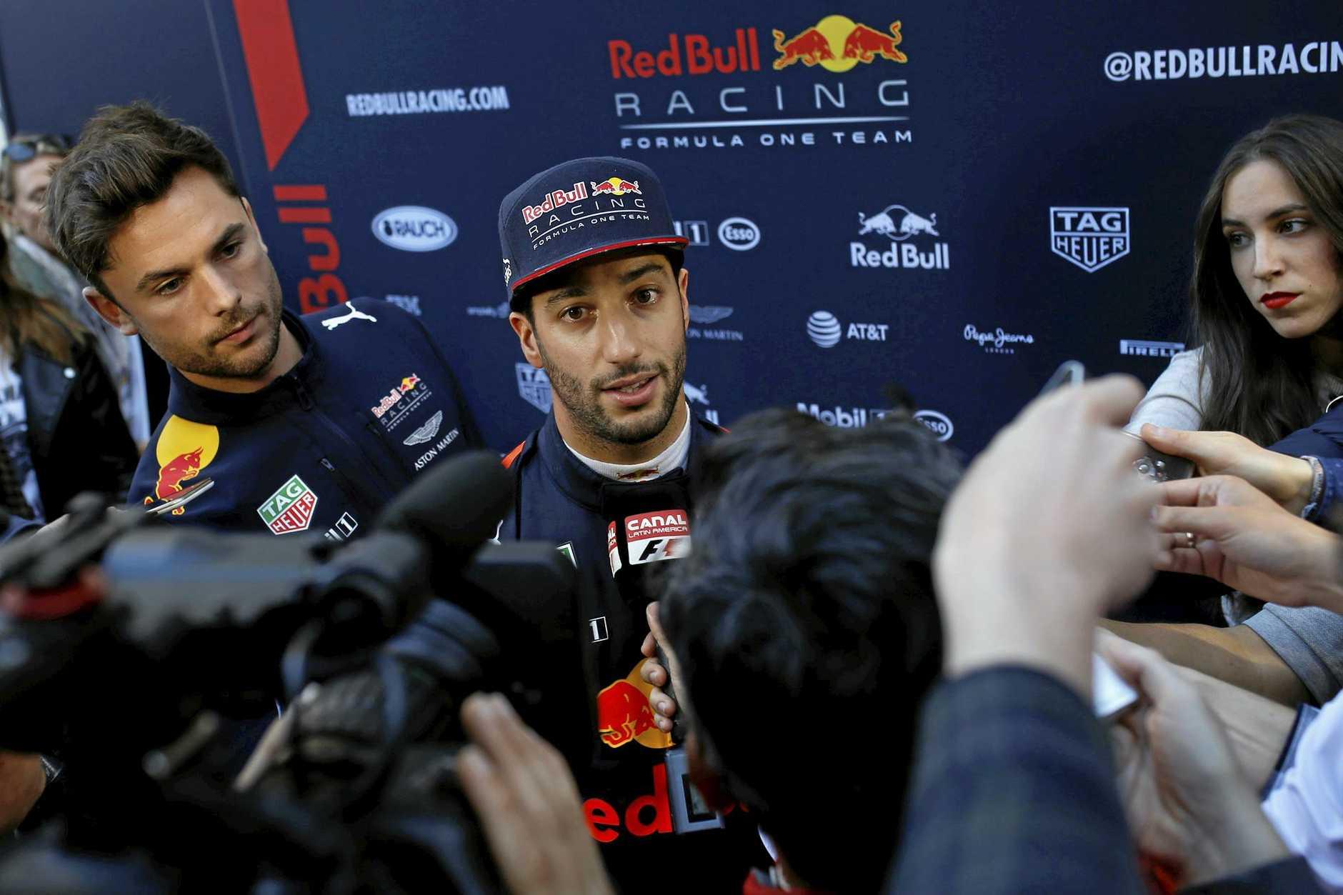 Red Bull driver Daniel Ricciardo.