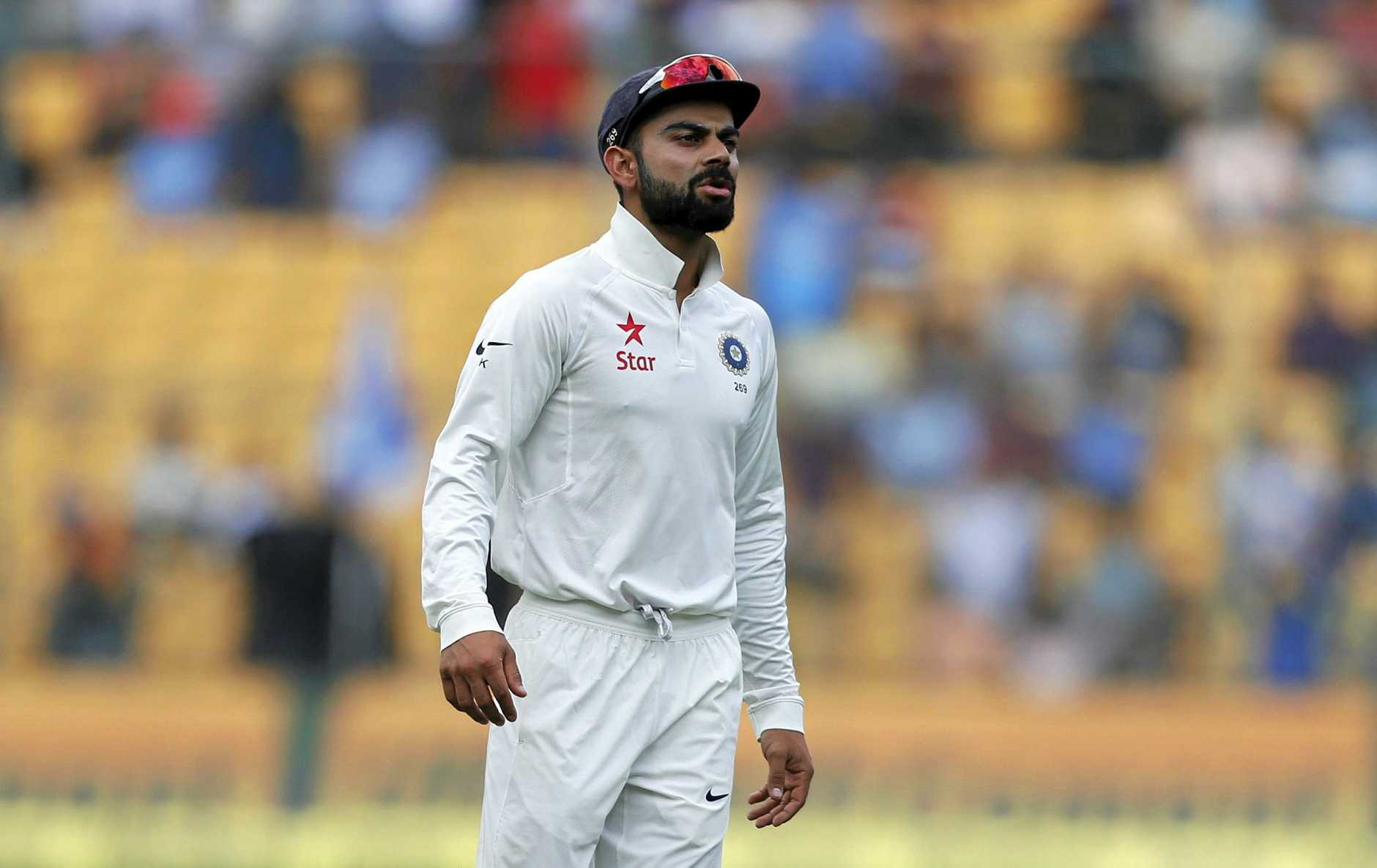 India's captain Virat Kohli was embroiled in DRS controversy during the second Test.
