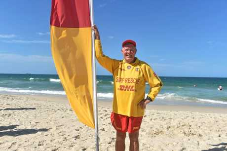 SURF'S UP: Woorim lifesaver Adrian Harvey kept a watchful eye over Bribie's surf beach this summer.