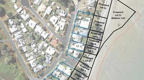 The proposed subdivision at McEwans Beach.