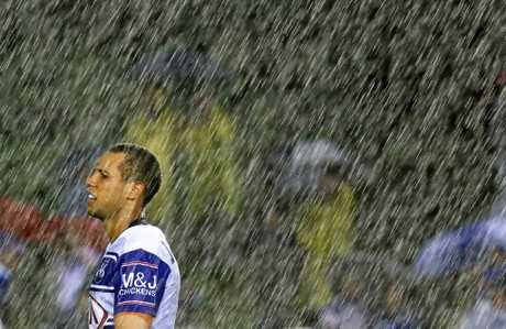 Moses Mbye during the round-one match between the Canterbury-Bankstown Bulldogs and the Melbourne Storm at Belmore Sports Ground