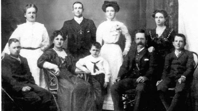 FAMILY: The Fudge family included (back row) Agnes, Louis, Kate, Margaret and (front) Naomi, Harry Penny, Albert and William.