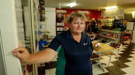 Mitchell Service Station owner Beverley Page. Picture: Mark Calleja