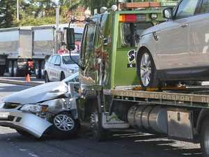 Teen injured in collision between car and truck