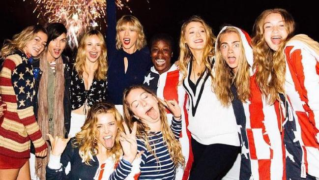 Ed Sheeran says he hooked up with members of Taylor Swift's girl squad while touring with the blonde singer.