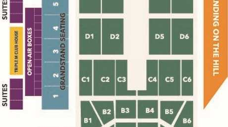 The seating plan for BB Print stadium.