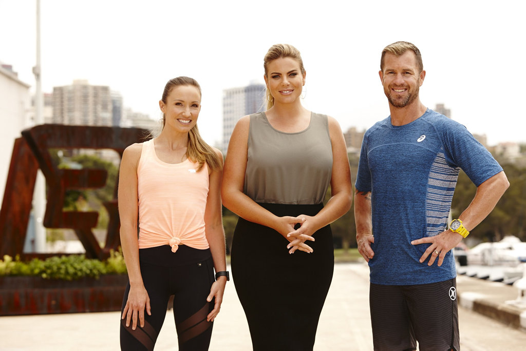 The Biggest Loser: Transformed trainers Libby Babet and Shannan Ponton pictured with host Fiona Falkiner, centre.