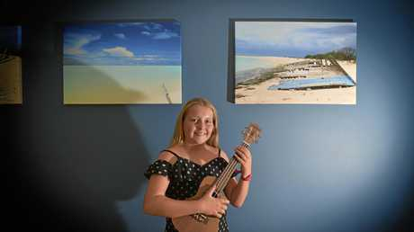 Trini Blackmore,12, has discovered she loves to sing and play the ukulele.