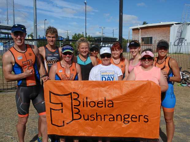 FIGHTING FIT: Biloela Bushrangers team members (from left) Luke Trevithick, Dakota Godwin, Jade Rideout, Breanna Mauger, Nicki Radke, Bev Belnaves, Izabella Godwin, Candy Rideout, Meigan Marxson and Kate Mauger.
