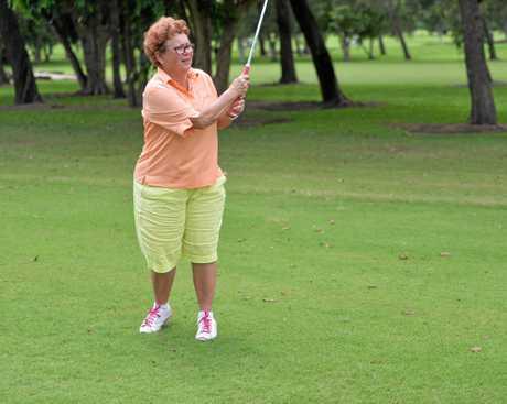 Rhonda Meng, whose husband Col Meng is Mackay Golf Club president, began playing the sport 12 years ago.