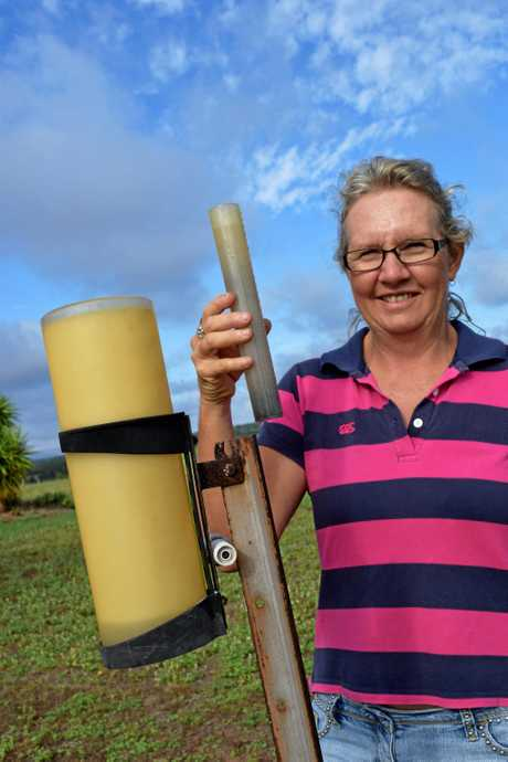 THANKFUL: Leonie Price recorded 56mm at her Moura property last weekend.