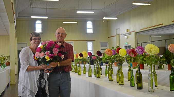 CAPTIVATING COLOURS: Heather Prior and Graham Gillam were impressed with the entries.