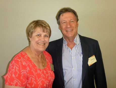 Kerrie Bryant-Adams and Mayor Tony Wellington meet up at the Sunshine Coast Business Council strategic discussion.
