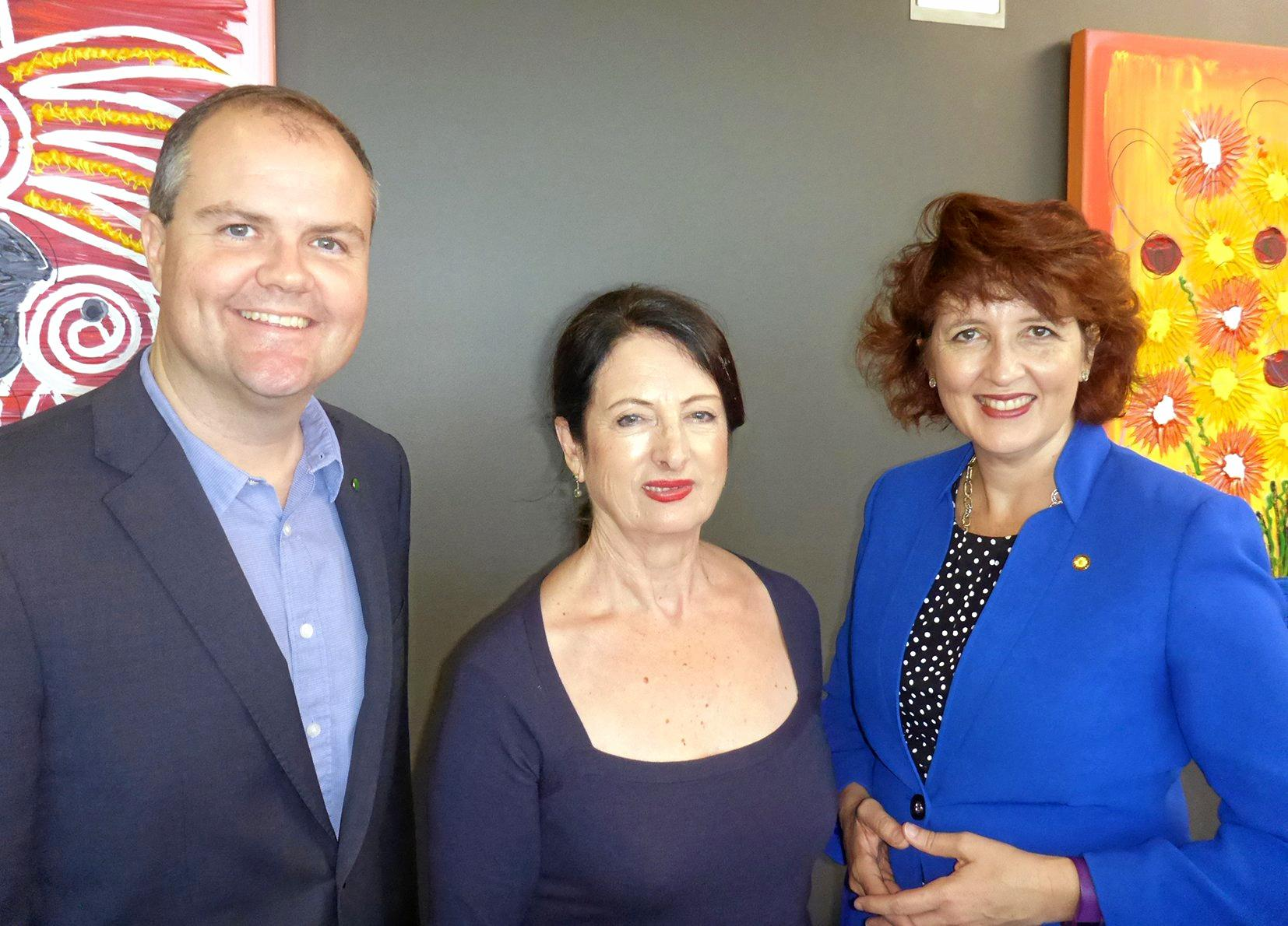Ted O'Brien,  Sandy Zubrinich and Fiona Simpson MP discuss the strategic direction of the Sunshine Coast.