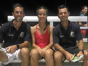 Olympian duo thrill youngsters at clinic