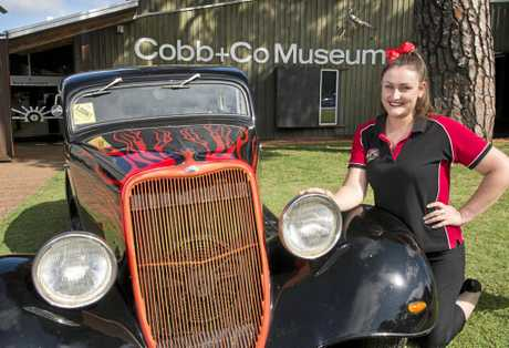 COOL RIDE:  Kellie Twidale will have her 1933 Ford on display at the High Altitude Hot Rod Show 'n' Shine at Cobb+Co Museum.