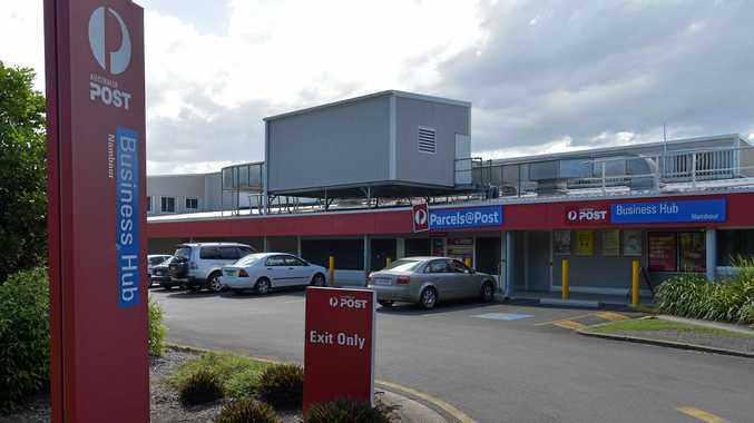 The Australia Post building in Nambour, where a man died on Thursday March 9.