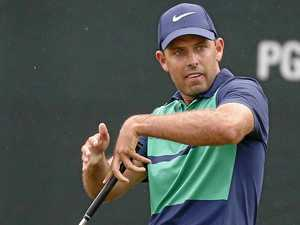 Fore! Schwartzel hit by partner's golf ball