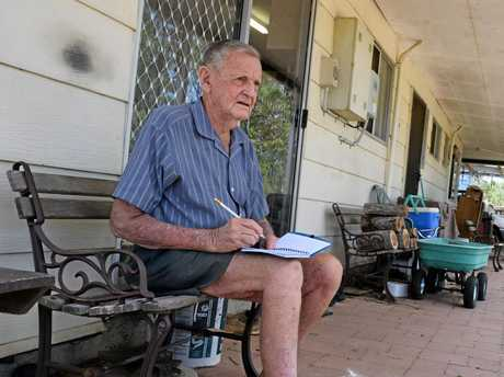 Joe Llewellyn has been tallying up the number of trucks that use Swanbank Rd for 40 years.