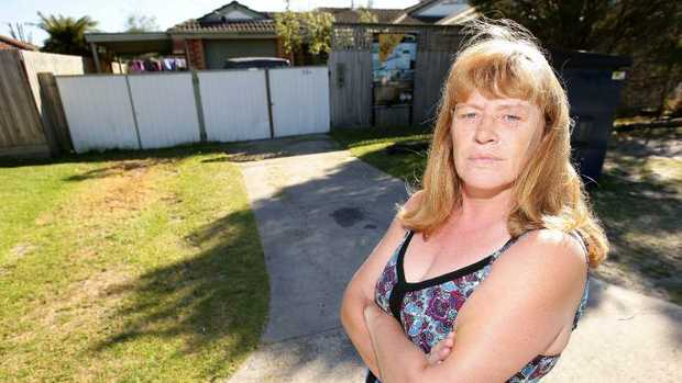 Tanyia Johnson is angry she has been fined for parking in her own driveway. Picture: Norm Oorloff
