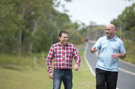 Mayor Matt Burnett and deputy mayor Chris Trevor.
