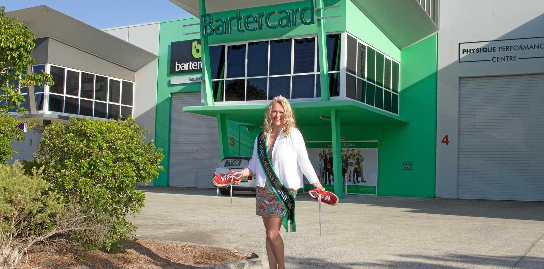 Gold Coast dynamo Suzi Dent vies for the title of Mrs Earth Australia.