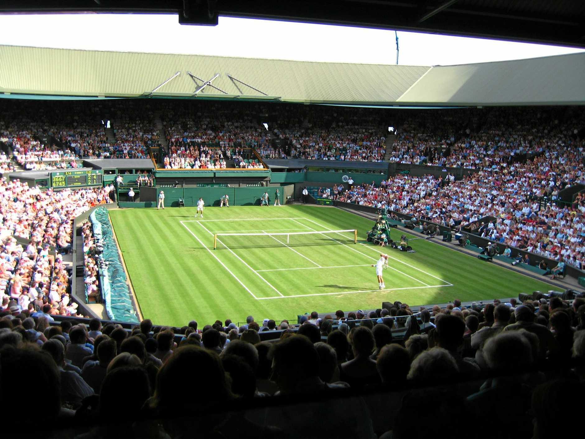 TENNIS: centre court at Wimbledon.
