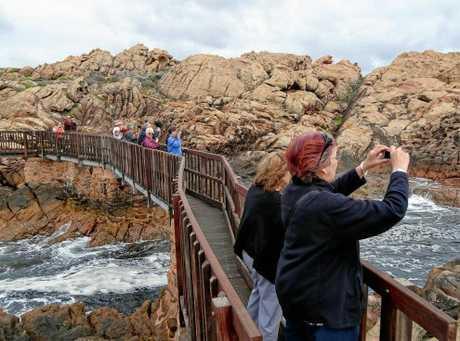 MARGARET RIVER CAPE TO CAPE: Rocks near Margaret River and Cape Naturaliste.