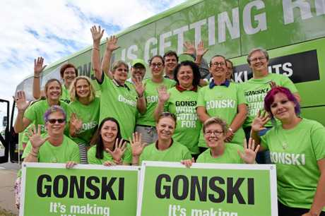 GIVE A GONSKI: Biloela primary school teachers support the campaign.