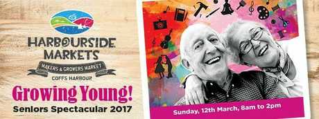 The Seniors Spectacular will be held at the Harbourside Markets on Sunday.
