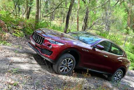 The 2017 Maserati Levante goes off-road.