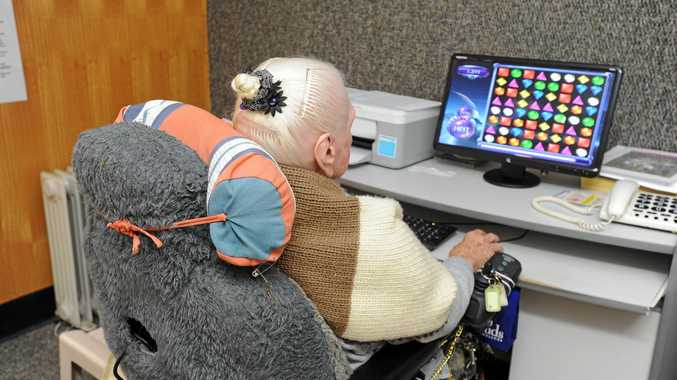 Older people are using social media to keep in contact with the community.