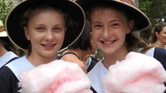 FAIR FUN: Enjoying last year's Glennie Fair is Selena Still (left) and Skye-Maree Brameld.