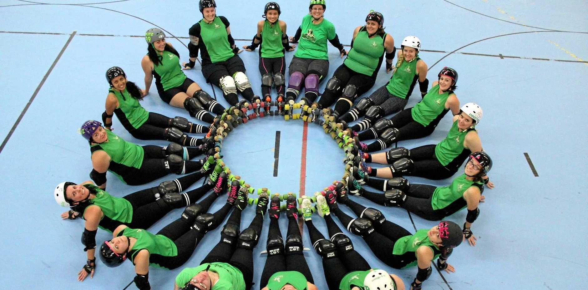 ON A ROLL: Mackay City Roller Maidens will take on Townsville's Top Gun Rollers this weekend.