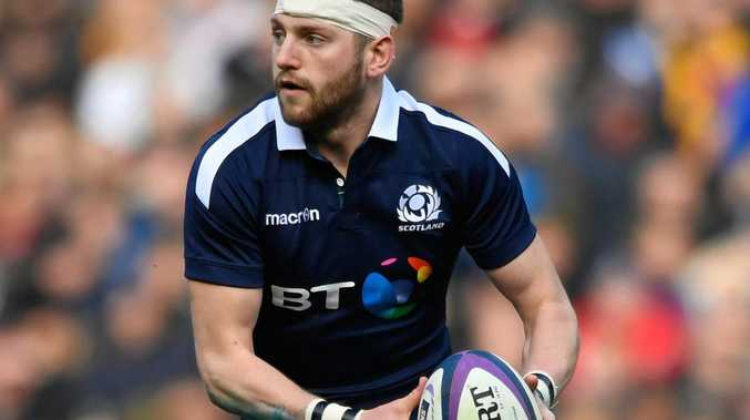 Finn Russell of Scotland in action against Wales.