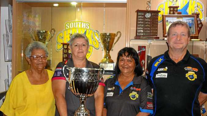 Souths reunion committee members Eunice Armstrong, Ann Ward, Sue Oosen and Rod Tandy are looking forward to Sunday's monster cent sale.