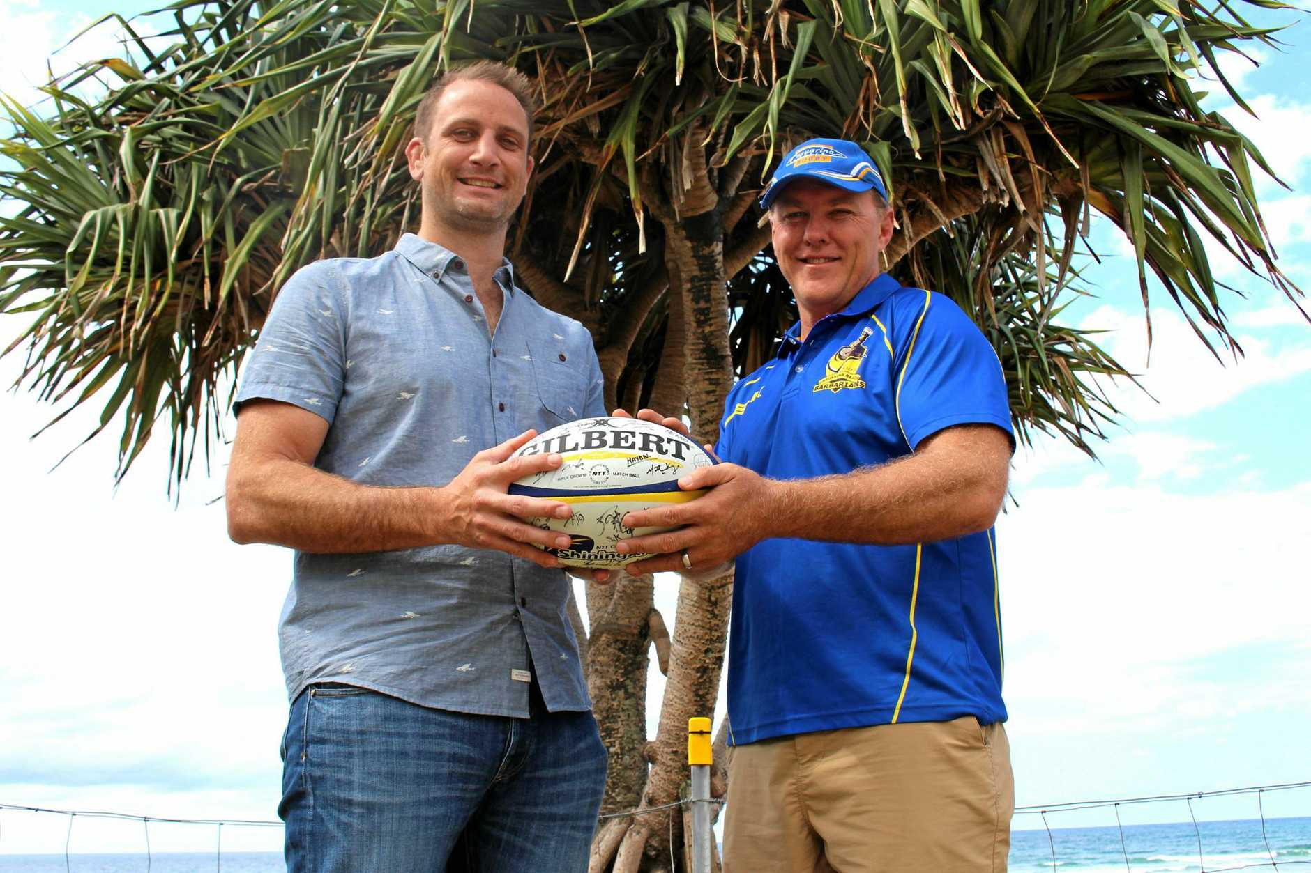 Former ACT Brumby and Queensland Red Adam Wallace-Harrison and former NSW Waratah and Bond Uni coach Adam Leach are ready to create history with Casuarina Rugby Club's first ever senior side.