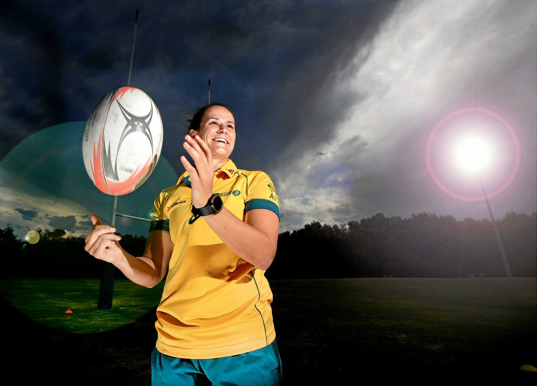 Rio Olympic Gold Medalist Shannon Perry is in Casurina to announce the plan to fielding a womens 7s team in the Gold Coast competition.