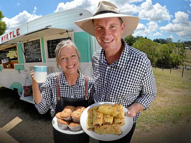 Hinterland Feijoas owners Sally and Peter Heineger are selling jams, coffee, ice-cream and other produce on their farm.