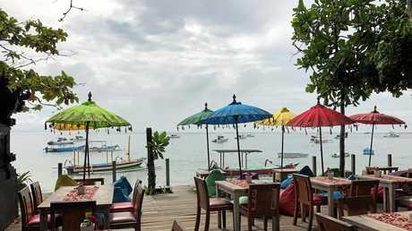 COLOURFUL: A gorgeous beachfront cafe at Sanur.