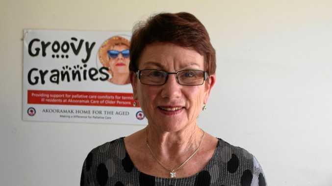 GOOD CAUSE: Groovy Granny Lynn Lane prepares for the latest group fundraiser.