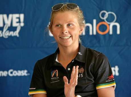 Mooloolaba ITU Triathlon World Cup Press Conference. Emma Jackson.