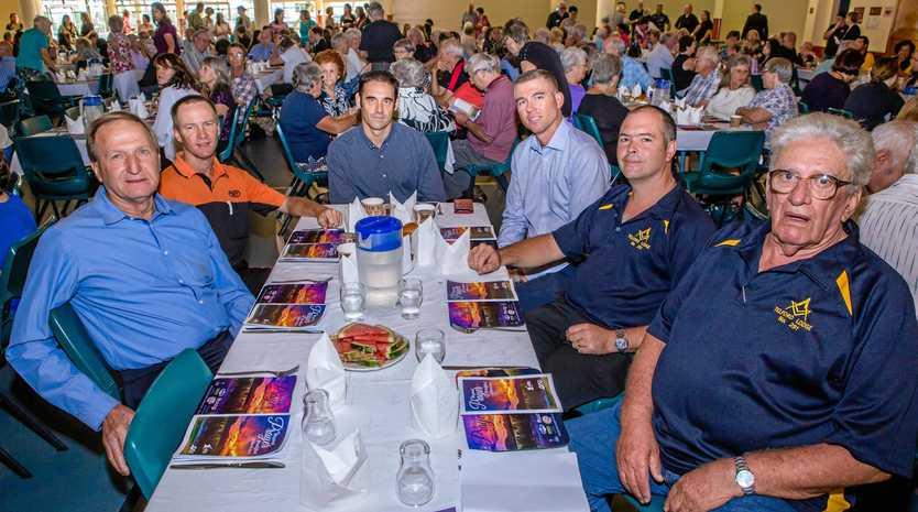 Perry Corbet, Michael Bourke, Haden Taylor, Daryl Graham, Michael Granger and John Shearer at the Mayoral Prayer Breakfast yesterday.