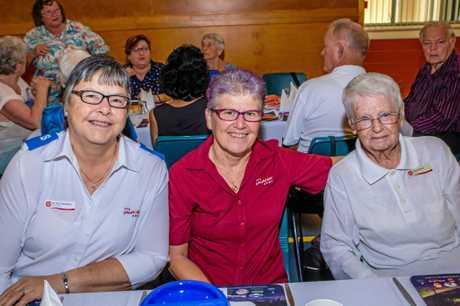 Dr Gail Davidson, Major Clair Smith and Beryl Brown.