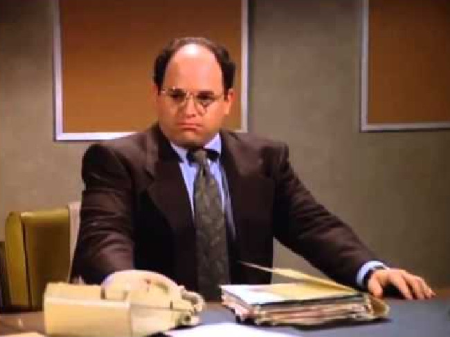 Short white men like George Costanza are more likely to go bald according to new research.Source:Supplied