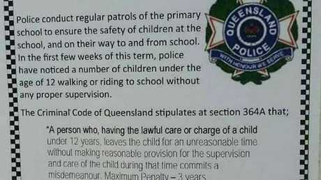 The officer-in-charge of Miles Police wrote an article published on July 27 in a local school newsletter.