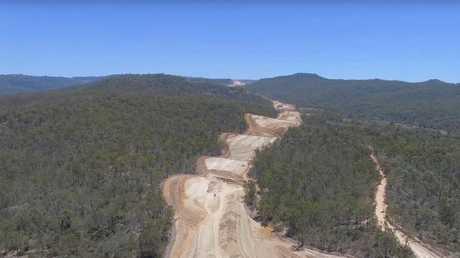 Video showing Toowoomba Second Range Crossing progress by Nexus Infrastructure.