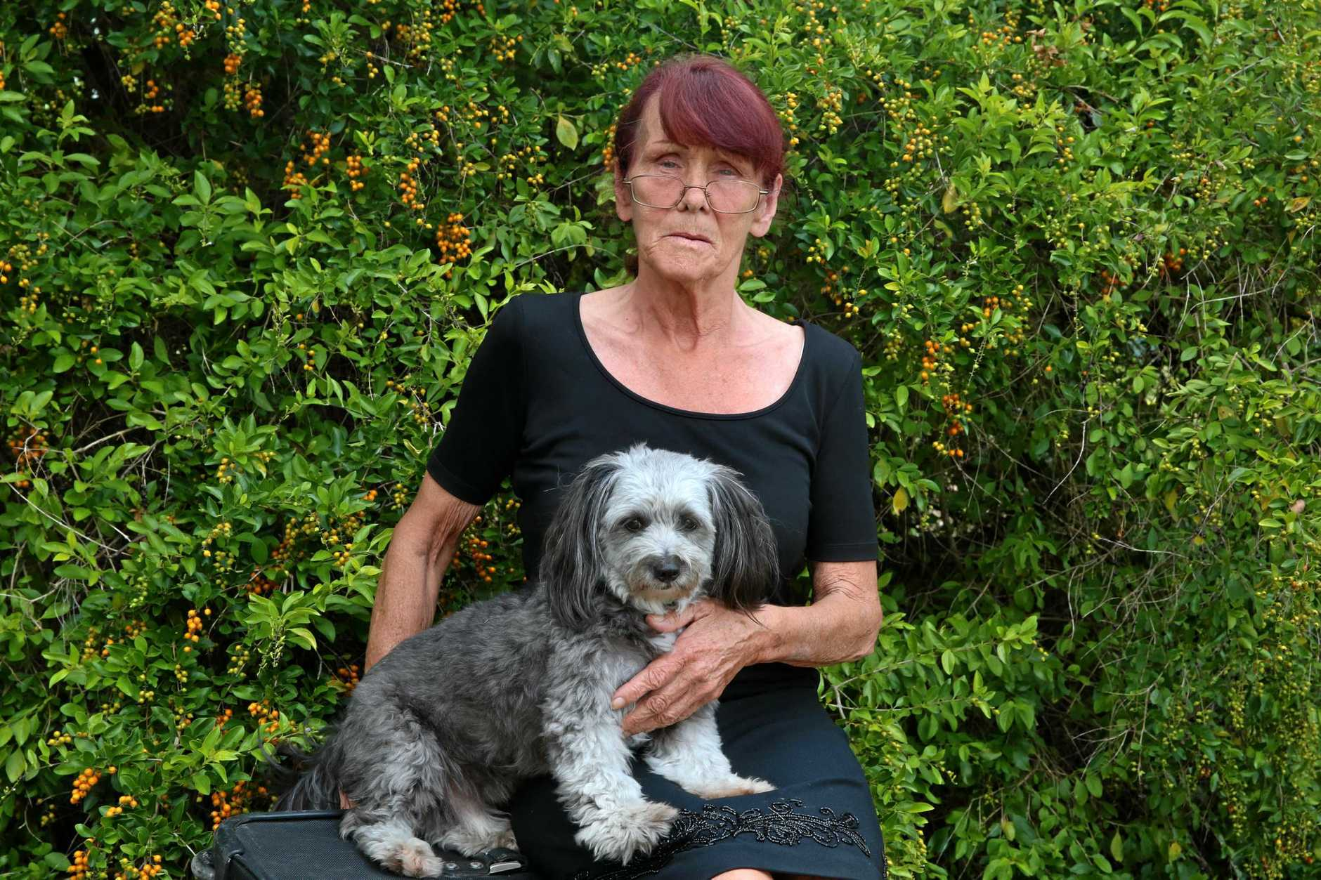 THE FACE OF HOMELESSNESS: Lynette has found herself homeless for the first time in her life. Pictured with her best friend Benji.