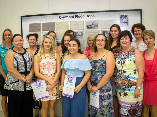 INSPIRING: Award nominees and winners with keynote speaker Alana Boyd, Cr Lyn Jones and Mayor Anne Baker at International Women's Day celebrations in Isaac.