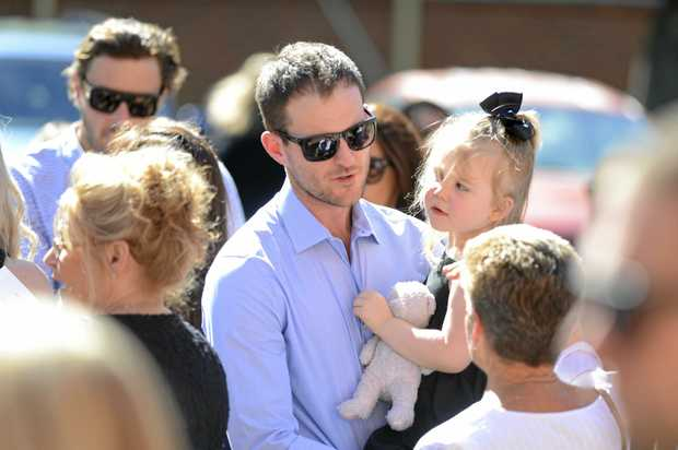 Sharon Edwards son Eli outside the memorial service of his mother Sharon Margaret Edwards at the Anglican Christ Church Cathedral at Grafton on Saturday, 11th March, 2017.